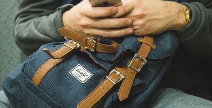 leather canvas rucksack