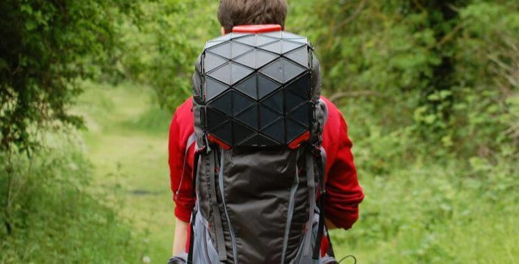 solar powered charging backpack