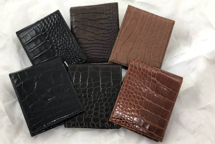mens alligator leather wallets