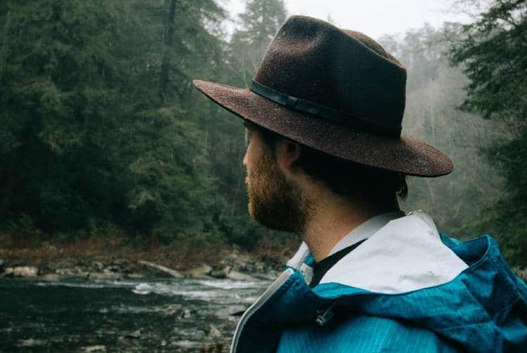 mens rain hat