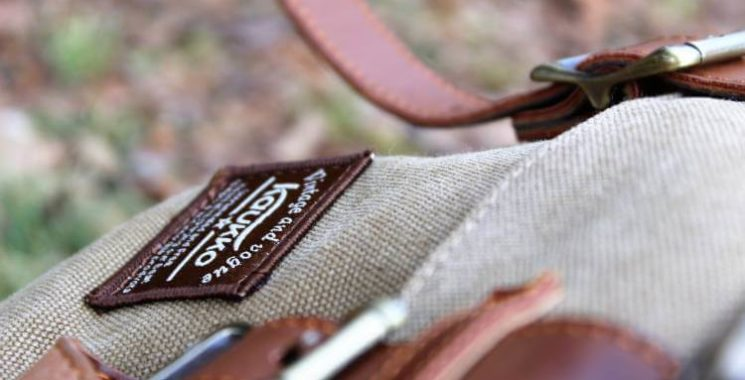 sew a patch on a backpack