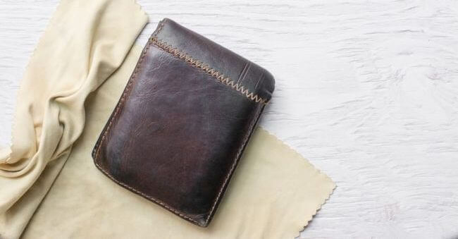 clean a leather wallet