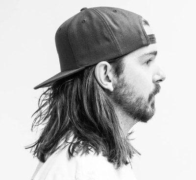 long hair with snapback