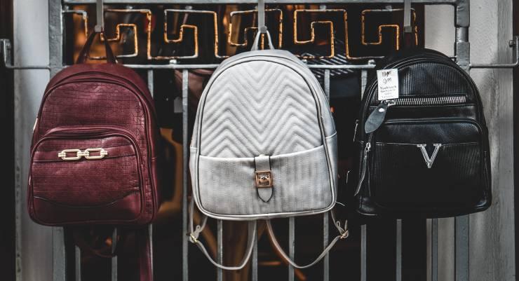 backpacks outside