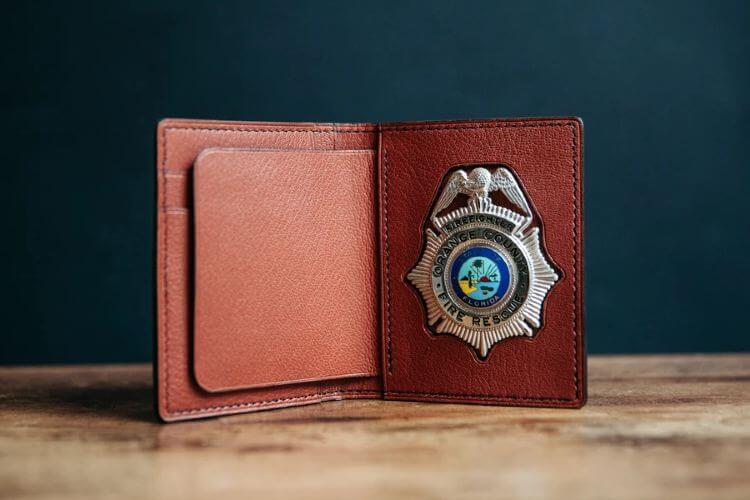 police badge holder wallet