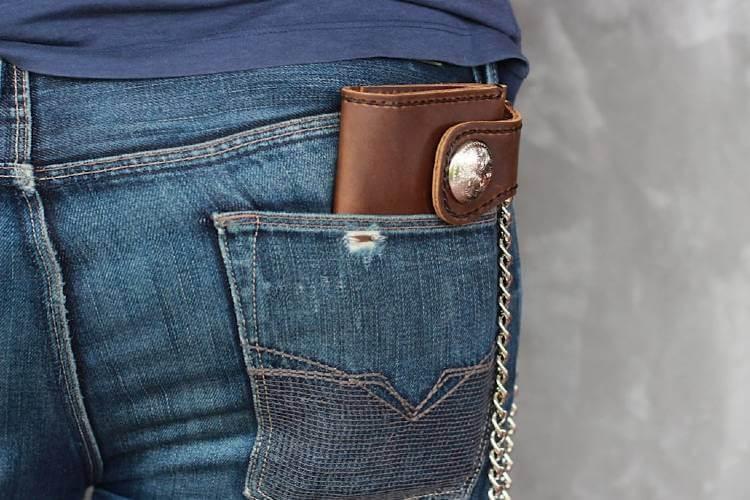 best biker wallet with chain